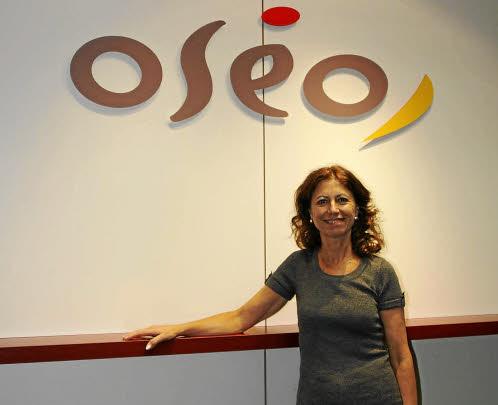 Lucia Lombardo, responsable crédit et communication d'oséo Rhône-Alpes, et animatrice du club Oséo Excellence.